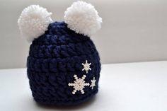 Newborn Chunky Snowflake Beanie  $17.00
