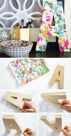 DIY Floral Monogram: The perfect DIY decorative project for your home! Easy and fun to make on a budget!