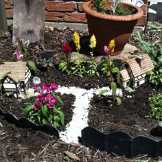 Fairy garden - very cute and easy gardening activity for kids that they can create and take care of.  They pick out the plants and flowers, use aquarium rocks for pathways and add whatever else you want to. We usually add a little glitter:) (idea courtesy of my Aunt KK)