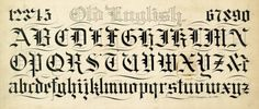 Alphabet in Old English text, undated by Frederick W. Tamblyn (1870-1947), The Zaner-Bloser Company. The University of Scranton Special Collections; The Horace G. Healey Collection. Located in our Zaner-Bloser online collection