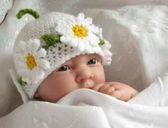 Cute crocheted hat for spring