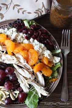 Mediterranean Chicken Salad and Creamy Balsamic