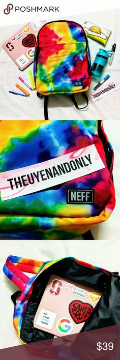 """NWOT NEFF Tie Die Backpack (School/Travel) 💠NEW WITHOUT TAG 💠Dimensions: 19.2""""x16.4""""x2.7"""" 💠The backpack features one large main compartment with internal padded laptop sleeve, and one small accessory pocket on the exterior. 💠BACKPACK ONLY. Other Accessories are NOT INCLUDED💠NO TRADE 💠Accept Reasonable Offer Only Neff Bags Backpacks"""