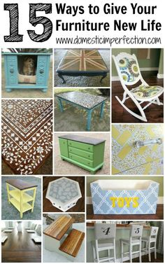 #10 DIY ::Projects to Give What you Already Have New Life !! Another Amazing Shop inside your Home- for New Furniture Post !! With 10 Excellent Tutorials on How to Easily Transform old to Brand New ! by @Ashley Walters Walters Walters Walters Walters @ Domestic Imperfection (who has never bought new furniture in her life- talk about a PRO)!
