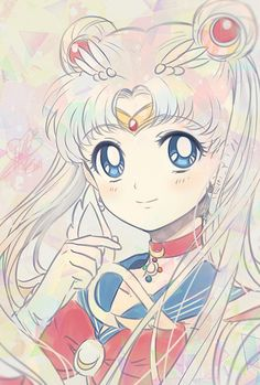 Fighting evil by moonlight, winning love by daylight, never running from a real fight, she is the one named Sailor Moon.