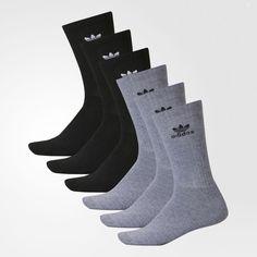 adidas Trefoil Crew Socks 6 Pairs - Mens Socks Adidas Socks 1c88c4833