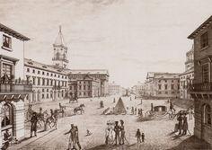 19TH CENTURY, Neo-Classicism, Germany - Friedrich Weinbrenner (1766-1826): Marktplatz, Karlsruhe, 1806-24