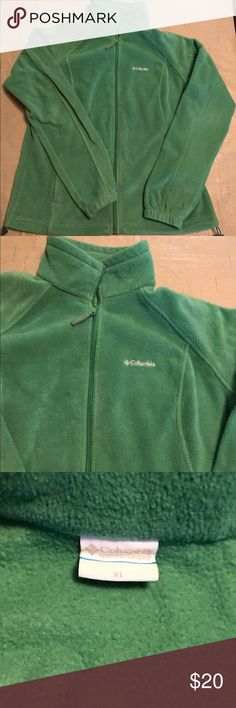 Columbia Fleece Jacket XL Columbia Fleece Jacket - Green.  Zippered pockets.  All zippers work great.  No rips, tears, or discoloration.  Smoke free home. Columbia Jackets & Coats