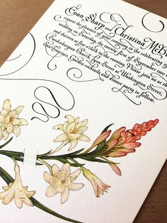 Jessica Hische and artist Jason Holley collaborated on the invitations. PHOTO: Jessica Hische.