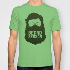 Beard Season by Chase Kunz as a high quality T-shirt. Free Worldwide Shipping available at Society6.com from 11/26/14 thru 12/14/14. Just one of millions of products available.