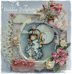 Debbie Dolphin http://www.kreativscrapping.no/products/magnolia-stamp-turning-leaves-tilda-learning-to-dance