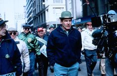 Harrison Ford, hiding in the St Patrick's Day Chicago parade in The Fugitive, Dir. Andrew Davis