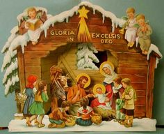 Lots of pictures of paper nativity scenes. Lovely.