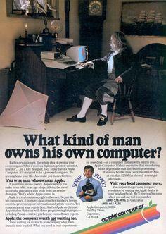 1980s Computer advertisement.... for this thing called a personal computer....