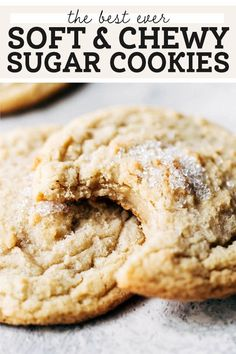 These are the BEST sugar cookies! They're soft and doughy on the inside, slightly chewy on the outside, and taste like they're from a gourmet bakery. It's your new go-to sugar cookie recipe. #sugarcookies #cookies #softsugarcookies #butternutbakery | butternutbakeryblog.com Types Of Desserts, Fun Desserts, Dessert Recipes, Delicious Desserts, Chewy Sugar Cookies, Soft Chocolate Chip Cookies, Best Sugar Cookie Recipe, Cookie Recipes, Gourmet Bakery
