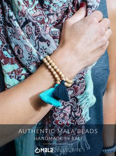 Authentic 108 bead mala necklaces - Hand knotted, and blessed in Bali Charm Jewelry, Jewelry Crafts, Beaded Necklace, Beaded Bracelets, Yoga Bracelet, White Moonstone, Pandora Bracelets, Beads And Wire, Yoga Mala
