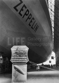 German Dirigible the Graf Zeppelin at Homeport of Friedrichshafe (© Alfred Eisenstaedt)