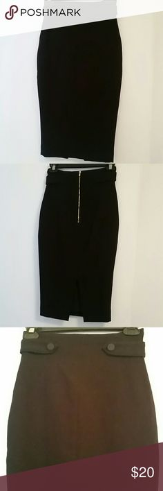 H&M Pencil Skirt H&M black pencil skirt, size 2. Fully lined. Shell: 70% polyester, 25% viscose, 5% elastane. Lining: 92% polyester, 8% elastane. H&M Skirts Pencil