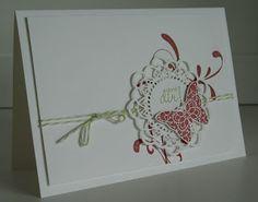 Greeting card - stampin with beemybear