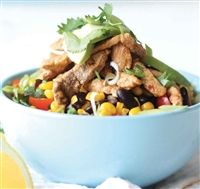 Weigh-Less Online - Mexican Bean Salad With Grilled Pork Mexican Bean Salad, Grilled Pork, Dog Food Recipes, Salads, Beans, Dog Recipes, Salad, Beans Recipes, Chopped Salads