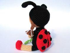 Ladybird Katy Amigurumi Crochet Pattern / PDF by DioneDesign
