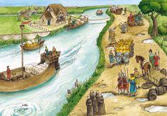 Het leven in de Middeleeuwen I Love School, Middle Ages, Medieval, Drawings, Artwork, Knights, Painting, Education, Google