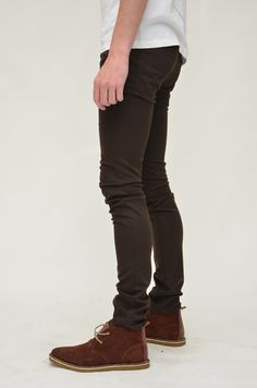 Dark Green Organic Sateen Skinny Jeans | skinny | Pinterest ...