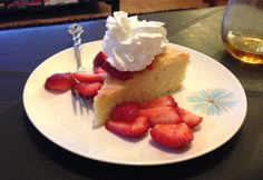 Lemon Olive Oil Cake with Strawberries - from LaurenFoodE