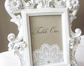 Vintage Lace Table Numbers/ Markers for Weddings/Special Occasions
