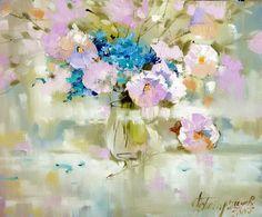 Пишем цветы маслом 08.07 в 12,15 и 19:00