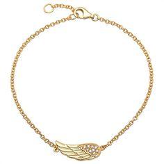 Unique Armband aus Silber gelbvergoldet Engelsflügel SB0196. http://www.thejewellershop.com/#armband #jewelry #bracelet #silber #gold