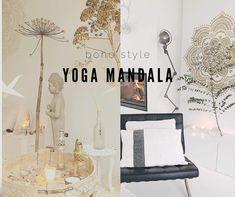 Vind jouw harmonie, een mandala brengt vereniging; vereniging van lichaam , geest en ziel. Een mandala zorgt voor een harmonieuze flow in je huis. Met behulp van dit stencil maak jijzelf een mandala op de muur.
