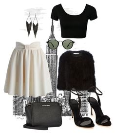 """""""Day 114"""" by bedelevingne on Polyvore featuring moda, Chicwish, Michael Kors, Ray-Ban, Givenchy y GUESS"""