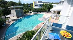 Coolum At The Beach Coolum Beach Located opposite Coolum Beach, Coolum At The Beach boasts 4 swimming pools, a fitness centre and a poolside BBQ area. Guests enjoy self-contained accommodation with a private balcony or terrace overlooking the pools or lush tropical gardens.