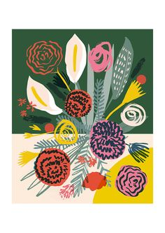 Flowers 2 by Elena Boils via East End Prints Ltd - £19.95 (http://www.eastendprints.co.uk/products/flowers-2.html)