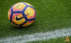 The official match ball is seen before the La Liga match between FC Barcelona and Malaga CF at Camp Nou stadium on November 2016 in Barcelona, Spain. Fc Barcelona, Barcelona Catalonia, Camp Nou, Miguel Angel, Sports Betting, Soccer Ball, November, Soccer, Shape