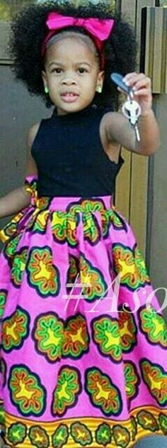 ♡Lil African Fashion for kids African Print Dresses, African Fashion Dresses, African Dress, Afro, African Inspired Fashion, African Print Fashion, African Children, African Women, African Attire