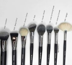 The elite collection by Morphe brushes .