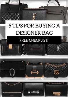 5 Tip s for Buying a Designer Bag / Handbag collection #bag #closetgoals #handbag #handbagcollection / Instagram: @fromluxewithlove