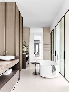 This Melbourne apartment was a collaboration between boutique property developer Orchard Piper, Jolson architects, interior designer Edwina… Melbourne Apartment, Penthouse Apartment, Modern Bathroom Design, Bathroom Interior Design, Interior Design Process, Bath Design, Interior Ideas, Interior Inspiration, Home Decor