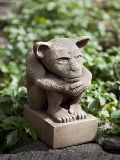 With the Campania International Sitting Gargoyle Cast Stone Garden Statue , a gargoyle keeps watch over your yard or garden. Crafted of sturdy cast. Stone Garden Statues, Outdoor Statues, Garden Fountains, Garden Stones, Outdoor Spa, Outdoor Decor, Outdoor Living, Classic Garden, Lawn Ornaments