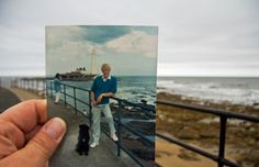Dear Photograph, My Dad, and good old Bandit, strolling along Whitley Bay. I'd love to take that leash once more.