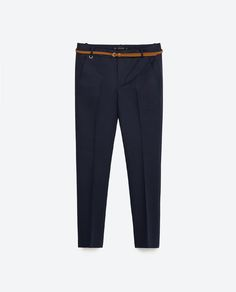 MID-RISE TROUSERS WITH BELT from Zara
