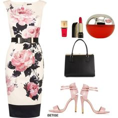 FLORAL ..... ROSES!!! ... SPRING VIBES? by betty-sanga on Polyvore featuring moda, Phase Eight, Topshop, Dolce&Gabbana, Lancôme and Yves Saint Laurent
