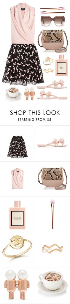 """Think Pink"" by cherieaustin on Polyvore featuring Giambattista Valli, Melissa, Paule Ka, Kate Spade, Gucci, Bing Bang, Sabine Getty and Aamaya by Priyanka"