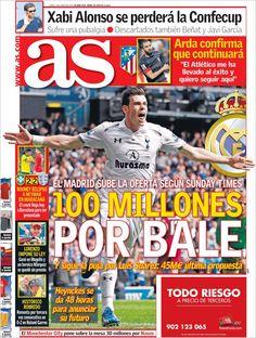 Los Titulares y Portadas de Noticias Destacadas Españolas del 3 de Junio de 2013 del Diario Deportivo As ¿Que le parecio esta Portada de este Diario Español?