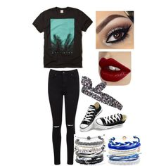 Really? #Disasterology by marissaeh on Polyvore featuring Hollister Co., Miss Selfridge, Converse, Domo Beads, Topshop and Charlotte Tilbury