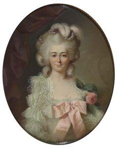 Portrait of Helena Apolonia Potocka, c. 1779-83 by Adelaide Labille-Guiard.  Портрет графини Елены Аполлонии Потоцкой. Художник Аделаида Лабий - Гийар.