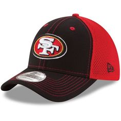 San Francisco 49ers New Era Youth Team Front Neo 39THIRTY Flex Hat - Black/Scarlet - $19.99