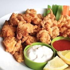 """Fried """"Buffalo"""" Calamari…..when two favorite bar foods meet."""